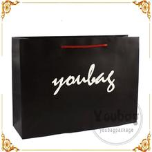 Cheap advertising tote plain kraft paper bags with high quality