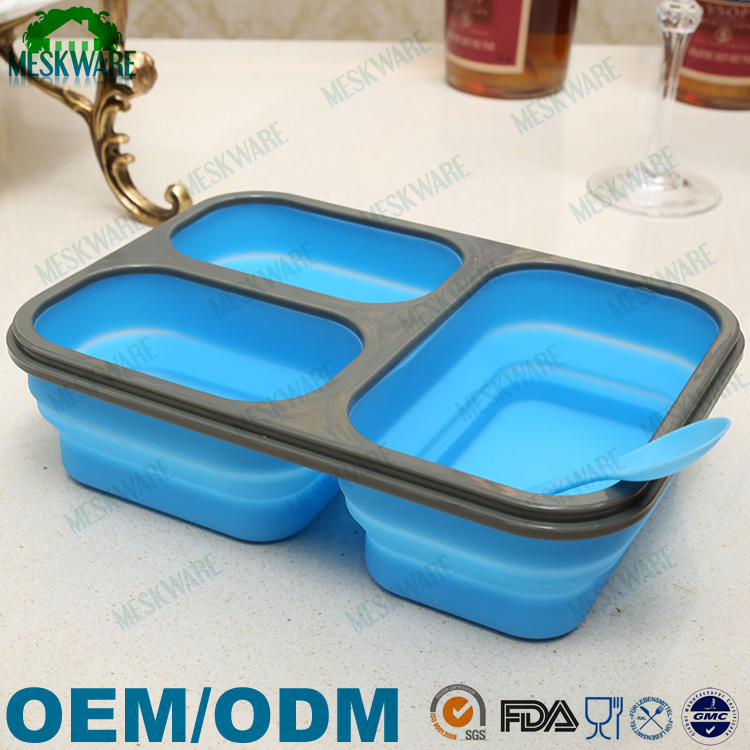 Latest design factory manufacture silicone battery heated lunch box