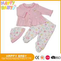 Flower Stripe Print Two Pcs Baby Girl Clothing set