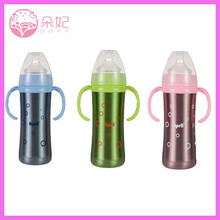 Wide Neck Stainless Steel Baby Bottle BPA Free