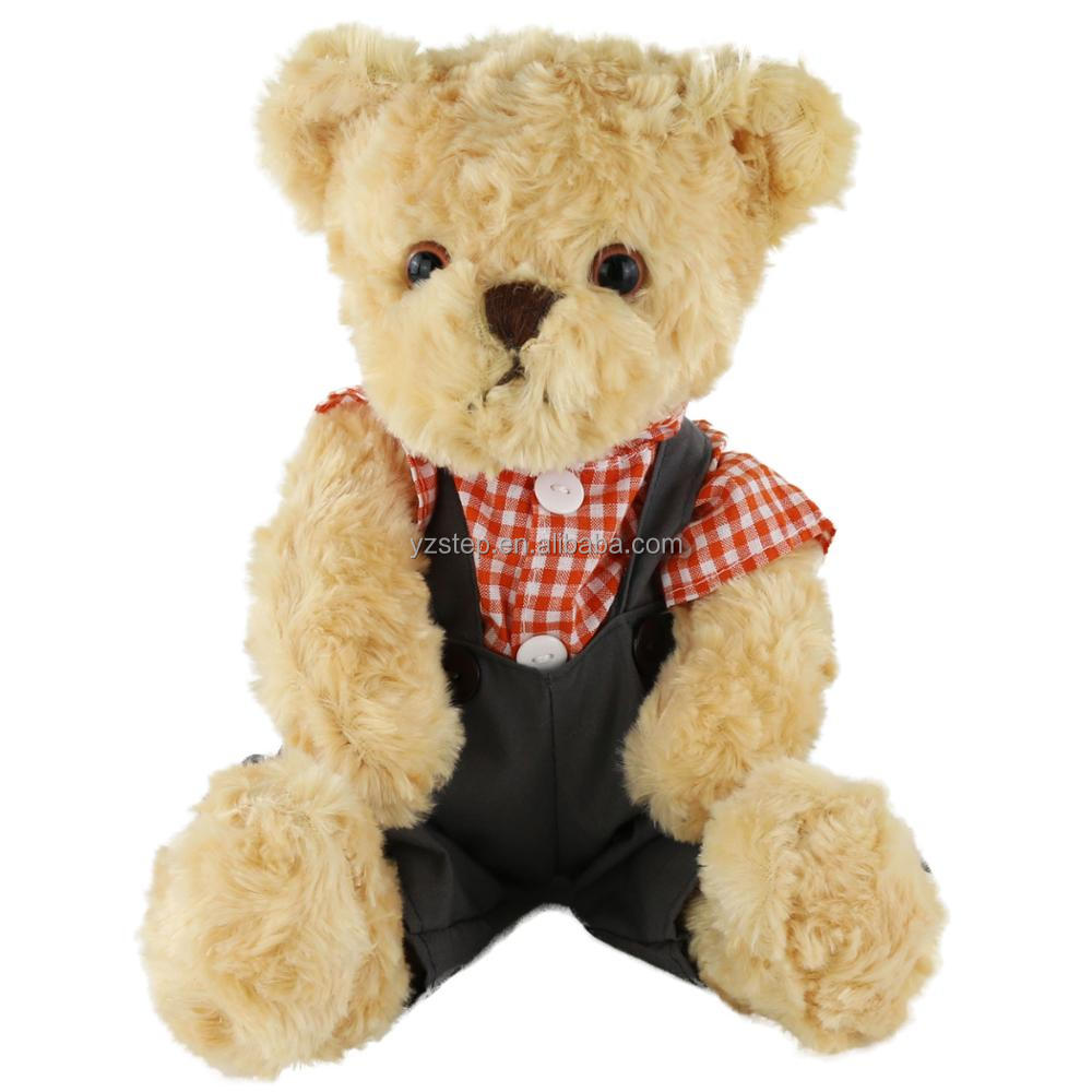 Fashion Super Soft Plush and PP Cotton Brown Teddy Bear