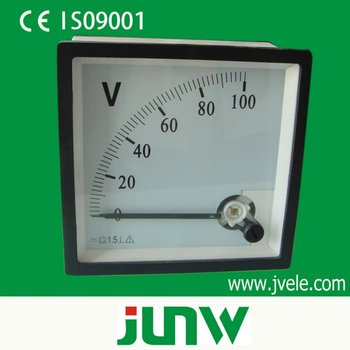 96*96 series mounted analog AC panel voltmeter