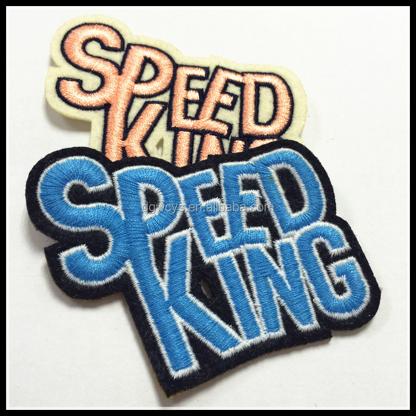 Letter Speed King Customized Iron On Embroidery Patch Embroidered Cloth Badge