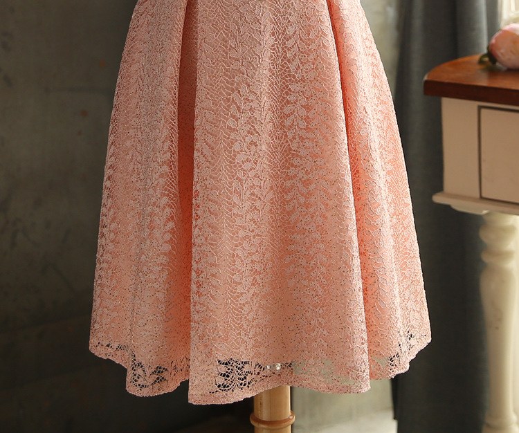 JS 24 High Quality Latest Wedding Gowns Light Peach Color Bridesmaid Sisters Dress 045