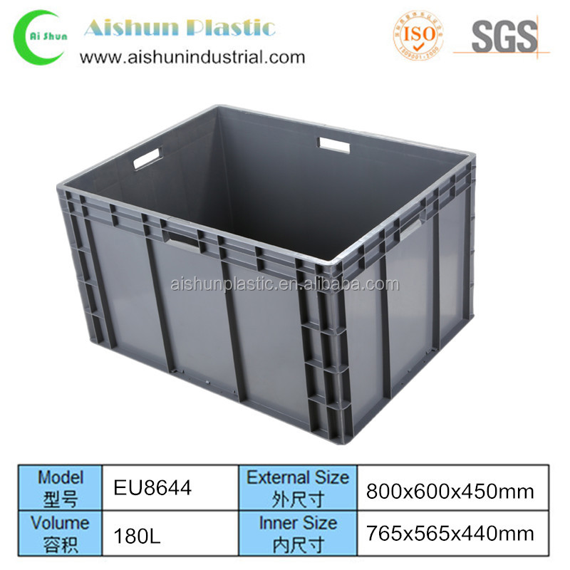 800x600x450mm EU series Stackable bulk plastic crate box