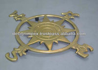 Brass Trivet East, West, North, South