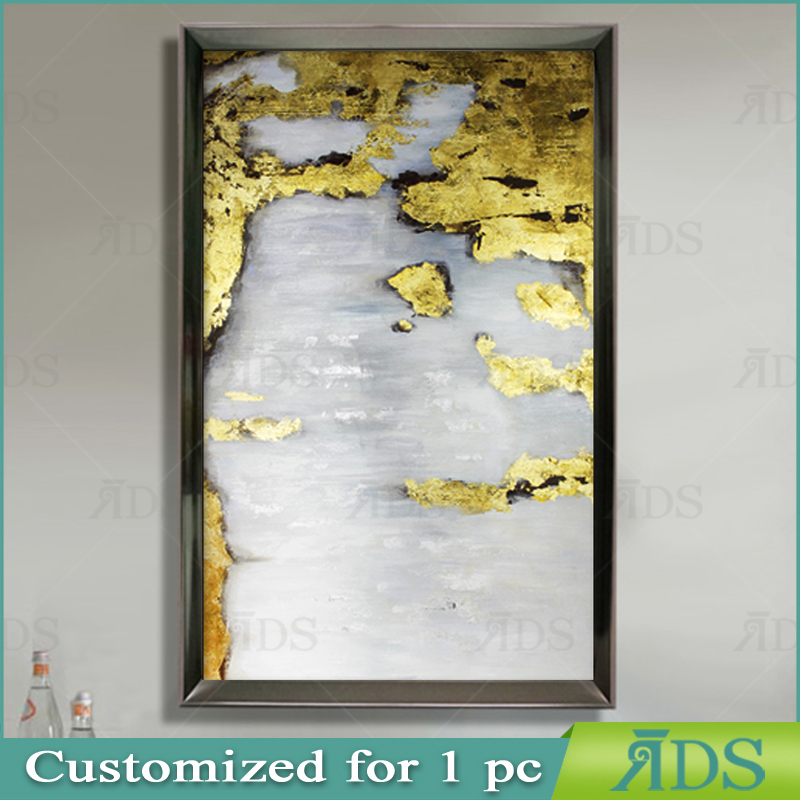 Customized Decoration Painting with Gold Leaf for wall art