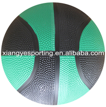 natural size 7 different color rubber basketball with color channel