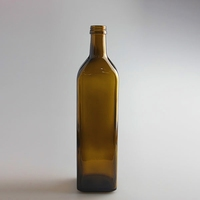 SQUARE SHAPE 500ML AMBER OLIVE OIL BOTTLE FOR SALE