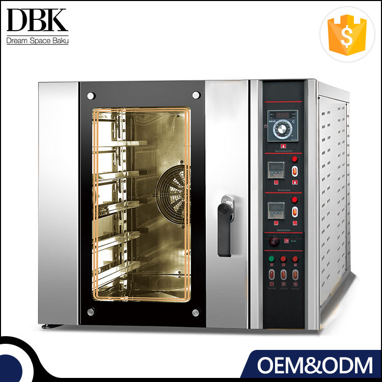 DBK 5 8 10 trays industrial stainless steel Bread Baking commercial electric convection oven