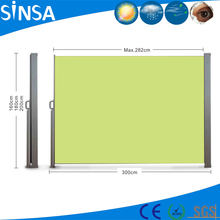 Outdoor retractable wind screen side awning for garden/balcony