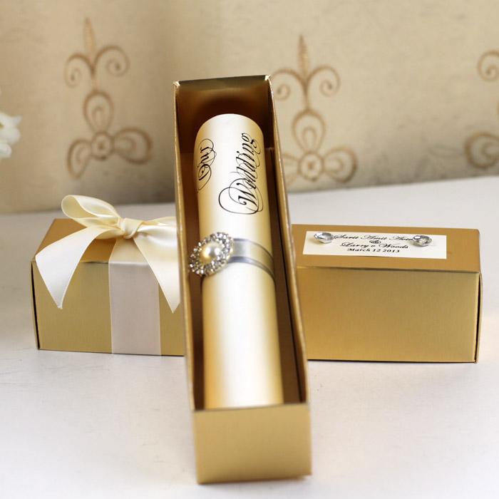 elegant wedding invitation scrolls wholesale wedding invitations
