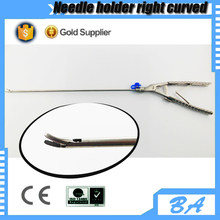 Reusable laparoscopic right curved needle holder/different types of needle holders with CE certificate