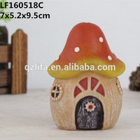 Resin artificial mushrooms house for sale