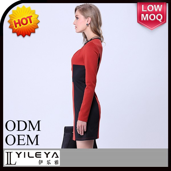 latest long sleeve ladies office dress formal dress
