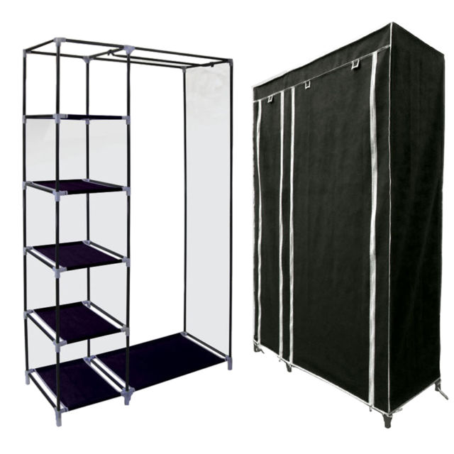 EASY-ASSEMBLY WARDROBE RAIL CLOTHES STORAGE, WHOLESALE HIGH QUALITY WARDROBE