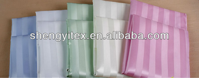 100% Polyester Solid Shadow Stripe Fabric