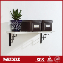steel wall hanging wooden shelf bracket/support