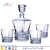 750ml square antique whiskey glass wine decanter