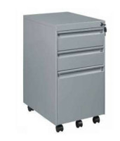 easy to move and best-selling in Asia,high quality low price 3 drawer steel filing cabinet furniture with wheels to sale