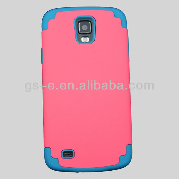 Hot for samsung galaxy s4 active case combo case,pc+silicone high quality