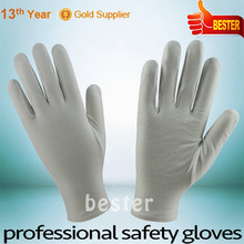 China gold supplier Promotion personalized white nylon coated green latex gloves