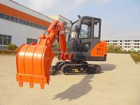 Red excavator panit mini excavator 3.5 ton for sale with rubber track steel track optional