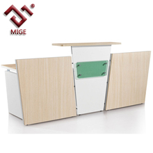 Modern office front desk counter