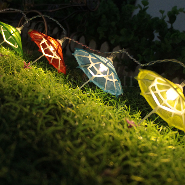 10 LED colorful mini unbrella Lampdecoration Fairy String Light