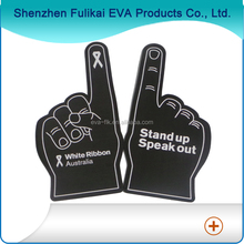 Black Color White Ribbon Australia Design EVA Foam Hands For Cheering