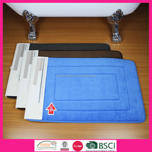 100% polyester anti slip rubber Floor mat