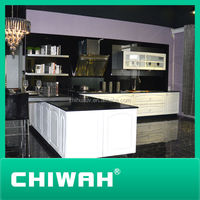 oppein kitchen cabinets high gloss white color