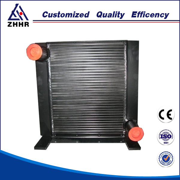 high pressure hydraulic oil cooler fan bar and plate oil cooler for excavator