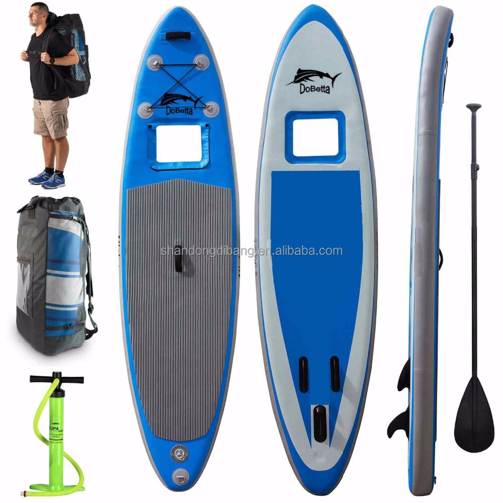 DBS622 durable light WDF drop stitch Isup Inflatable SUP drift Stand Up Paddle Boards with clear window