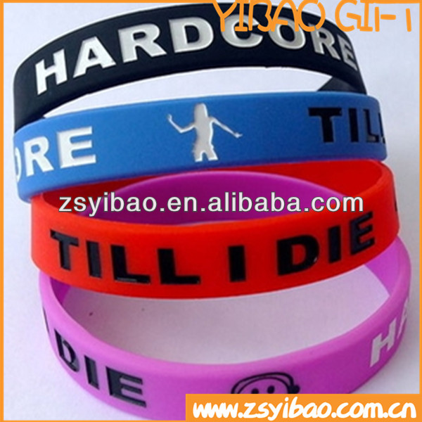 Adjustable factory directly wholesale cheap custom silicone wristbands no minimum