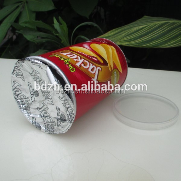 High quality round pringles canister packaging/pringles can