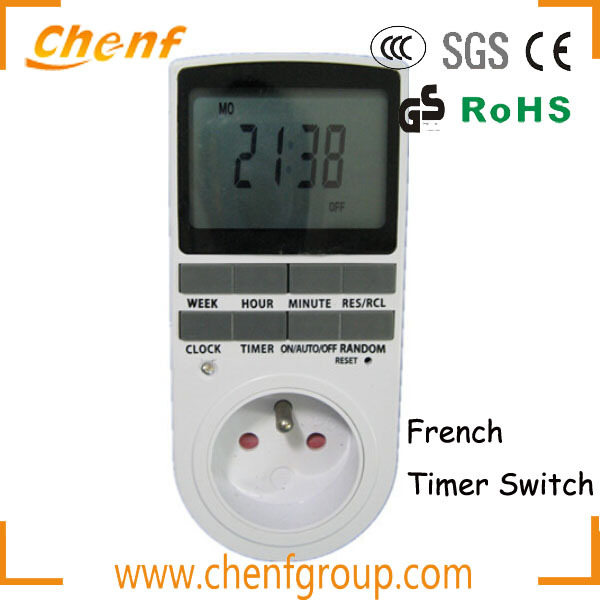 CE Approval LCD French Mechanical Daily Timer,timer switch
