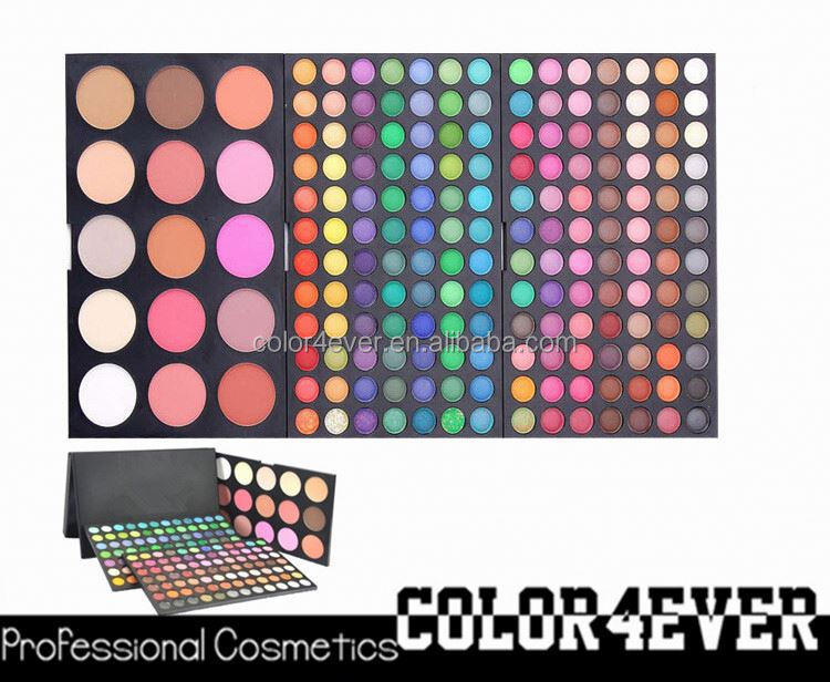 Hot Wholesale Pro 3 layers 183 colors Makeup Eyeshadow blusher Palette yellow eye shadow
