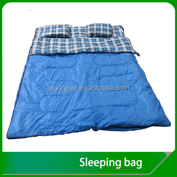 100% Cotton Flannel Double Sleeping Bag Customized