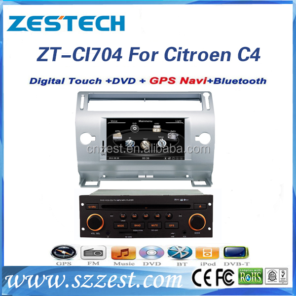 For citroen c4 car dvd player with gps navigation and bluetooth radio cd mp3 car radio bluetooth gps navigator with GPS DVD BT