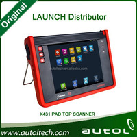 Free shipping 100% Original Launch x431 PAD with touch screen support OBDII cars with complete software
