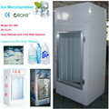 Bagged ice upright ice merchandiser autodefrost for indoors and out
