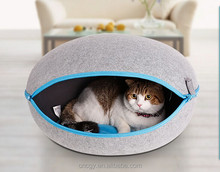 Nature egg shape ideal pet house felt cave bed for small dog and cat