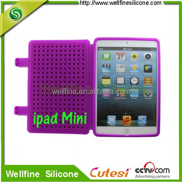 Fancy block design silicone case and cover for 7 inch tablet pc