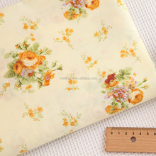 Factory sale eco-friendly vietnam digital printed organic cotton crepe fabric spandex yarn dyed for children