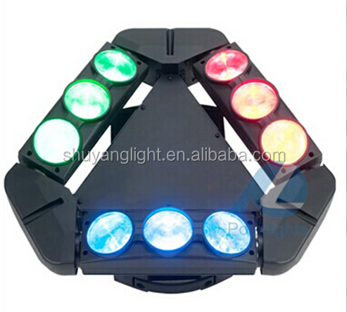 Dmx stage beam spider 9x10w RGBW 4in1 led spider beam moving head light