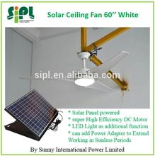 60 inch 30 watt traditional style 0 pollution 0 energy waste (solar) panel powered cooler solar ceiling fan