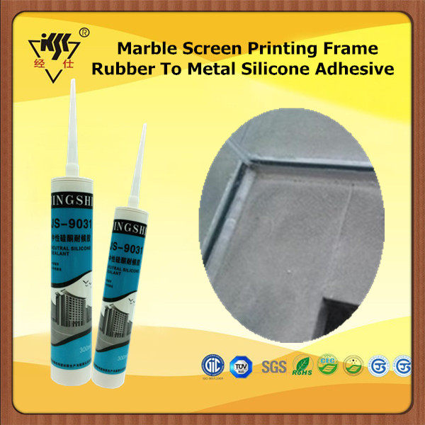 Marble Screen Printing Frame Rubber To Metal Silicone Adhesive
