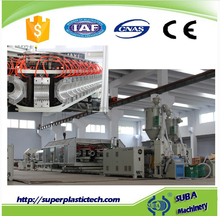 DWC plastic hdpe pipe extrusion line