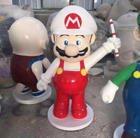 high quality big size fiberglass resin super mario bros statues sculpture China factory